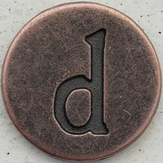 Copper Lowercase Letter d Sing The Alphabet, Alphabet Songs, Alphabet And Numbers, Luv Letter, Handwritten Typography, D Book, Copper Color, Graphic Design Typography, Lower Case Letters