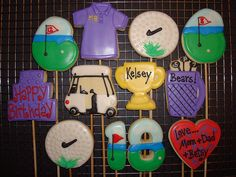 golf theme cookies