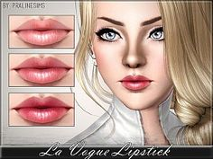 La Vogue Lipstick by Pralinesims for Sims 3