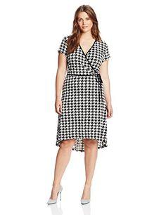 Anne Klein Women's Plus-Size Houndstooth Print Dress - http://18xl.com/anne-klein-womens-plus-size-houndstooth-print-dress-2/