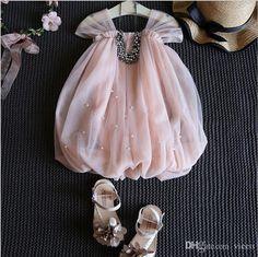 2016 Hug Me Baby Girls Lace Suspender Dress Christmas Tutu 2016 New Summer Sleeveless Pearl Dress For Kids Dress Mk 733 From Vieeo, $49.72 | Dhgate.Com