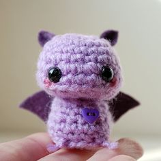 Baby Purple Bat - Kawaii Mini Amigurumi by Twistyfishies ... so adorable