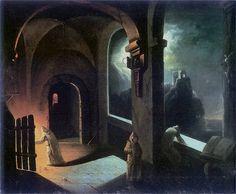 'Scene in the Carthusian Monastery' by Francis Xavier Lampi (1782 - 1852)
