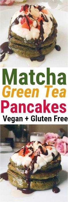 Matcha Green Tea Pancakes! Nope
