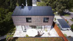 Sleek solar panel roof and carport