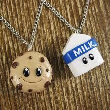 Cookies and Milk friendship necklace