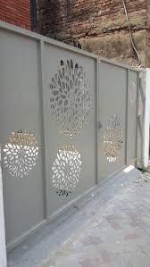 Image result for cnc cutting gate designs Gate Wall Design, House Gate Design, Door Design, Steel Railing Design, Grill Design, Steel Doors, Cnc, Balcony, Image