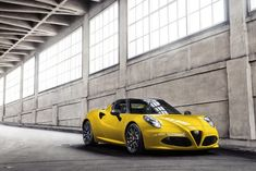 The all-new 2015 Alfa Romeo 4C Spider handcrafted in Modena, Italy; groundbreaking and seductive Italian style; state-of-the-art Formula 1 inspired carbon fiber monocoque chassis that enables an incredible power-to-weight ratio; advanced technologies, including the all-aluminum 1750 cc turbocharged engine with direct-injection, intercoolers, and variable-valve timing that enable supercar-level performance.