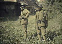 Senegalese and Algerian soldiers who fought alongside the French Army in World War One