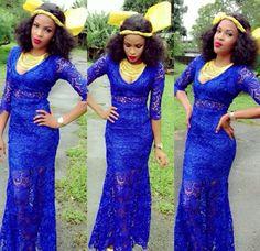 Blue Aso ebi ~African Prints, African women dresses, Kitenge, Ankara, Kente, African fashion styles, African clothing, Nigerian style, Ghanaian fashion ~DK