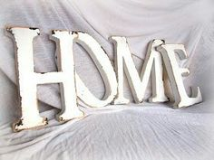'Old' wooden letters