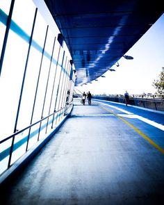 Walking the bridge to the other side Brisbane Australia