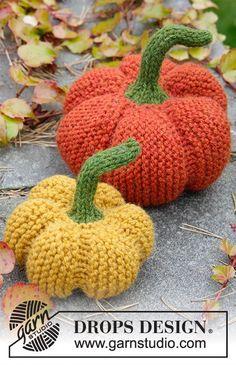"The Patch - DROPS Halloween: Neulotut DROPS kurpitsat ""Nepal""-langasta. - Free pattern by DROPS Design"