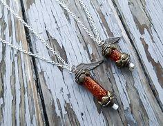 Final Fantasy Phoenix down necklace - Final Fantasy 8 necklace - Video game jewelry - Phoenix Necklace - Pheonix down necklace #finalfantasy