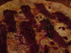 See 28 photos from 226 visitors about pizza, casual, and good for dates. It's got pomegranate on it as a topping too. Oslo, Pomegranate, Vegetable Pizza, Reindeer, Life, Food, Granada, Essen, Pomegranates