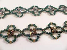Four Leaf Clover Bracelet Pattern, Beading Tutorial in