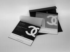 Chanel Fashion Show Invite Concept - Concept generation for Exclusive Presentation of Chanel's Fall/Winter 2007 Haute Couture Show in Paris, France. This invitation was laid out using Adobe Illustrato. Tag Design, Print Design, Graphic Design, Carton Invitation, Invitation Cards, Gala Invitation, Packaging Design, Branding Design, Corporate Branding