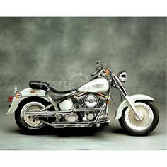 Silver Harley Davidson motorcycle - I dont really know anything about bikes but this is pretty!