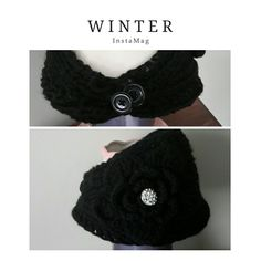 CROCHETED HEAD/EAR WARMER BLACK CROCHETED HEAD / EAR WARMER BUTTONS IN THE BACK, HAS A CUTE CRYSTAL DESIGN PIECE ON THE SIDE. NEVER WORN. Accessories