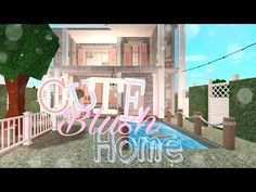 ⚘Family blush home||35k||Speed build||BLOXBURG,ROBLOX⚘ Give away winner!!♡ - YouTube Family House Plans, Home And Family, Furniture Ideas, Home Furniture, Angles, Blush, Neon Signs, Houses, Hacks