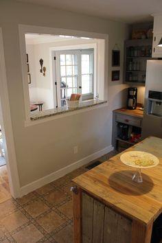 make pass through window kitchen dining - Google Search