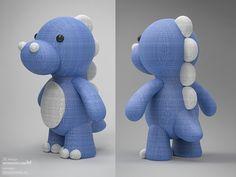 Cute dinosaur plush design