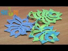 ▶ Feather Leaf Crochet Tutorial 26 - YouTube
