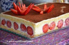 gâteau tiramisu aux fraises (sans gélatine), recette du tiramisu aux fraises sans gélatine, tiramisu gâteau façon fraisier facile et rapide