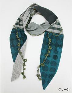 fabric & crochet lariat scarf http://www.gungendo.jp/fs/gungendo/13230705
