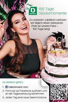 """,,100 Tage Glücksmomente"""" - Aktion auf Facebook. Täglich verlost #Deichmann #exklusive Tagespreise sowie zusätzlich pro Tag 10 iPad Hüllen. http://mu.cx/fe3b04"""