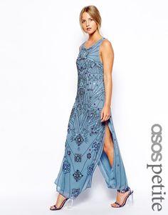 ASOS PETITE Exclusive Mirror Embellished Midi Dress