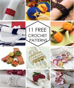 11 FREE Crochet Napkin Rings PatternsBlossom Napkin Rings