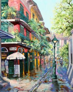 Pirate's Alley in New Orleans by Dianne Parks