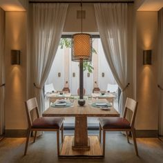 East meets the Middle East, and the best of the West in The Restaurant where classic Emirati design details complete the chic, understated dining room. Luxury Restaurant, Dining Room, Dining Table, Sharjah, Bait, Old Houses, Middle East, Guest Room, Classic