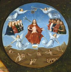 """""""God did not make death, nor does he rejoice in the destruction of the living. For he fashioned all things that they might have being. For righteousness is undying."""" Wisdom 1:13-14a,15 // Jesus Christ: Last Judgment / El Juicio Final // Table of the Seven Deadly Sins (detail) / Mesa de los Pecados Capitales (detalle)// 1505 - 1510 // El Bosco // Museo Nacional del Prado // #resurrection"""
