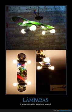 Skateboard Lamp For Skateboard Fans
