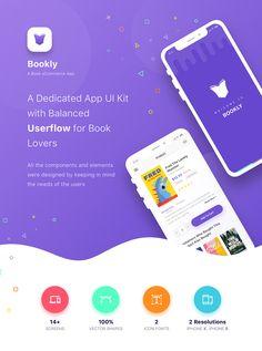 Bookly - A Book eCommerce App on Behance Android App Design, Mobile App Design, Mobile Ui, Creative Poster Design, Ads Creative, Design Posters, Brochure Design, Branding Design, Identity Branding