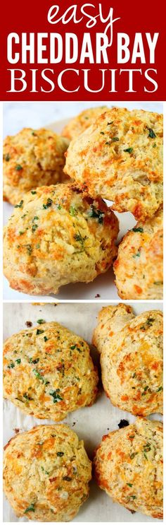 Easy Cheddar Bay Biscuits recipe- the best copycat of Red Lobster's popular favorite! Easy, fluffy and delicious. Watch our video to see how to make them.