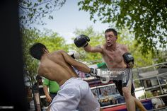 Foreigner fight with inmate at Klong Pai prison. Photo by Jonas Gratzer International Teams, Muay Thai, Boxing, Martial Arts, Prison, Charity, Thailand, Pai, Martial Art