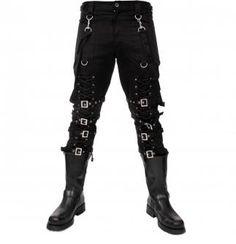 Attitude Clothing - Alternative, Gothic, Punk, Rock Clothing, Shoes, Brands + Accessories - Dead Threads Lace-Up Men's Bondage Pants