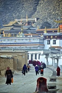 Morning at the Labrang Monastery, Tibet