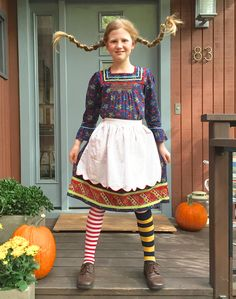 Homemade Pippi Longstocking Halloween Costume DIY