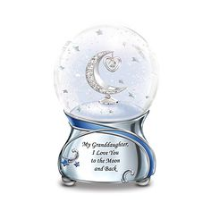 Show your precious girl how dearly she is loved with this My Daughter, I Love You to the Moon and Back Snowglobe Sun Moon Stars, Sun And Stars, Glitter Globes, Snow Globes, Online Katalog, Bradford Exchange, I Love You, My Love, Shimmer N Shine