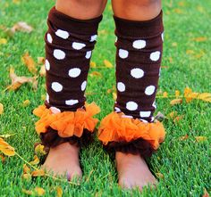 Brown Polka Dot Leg Warmers | The Preppy Pair