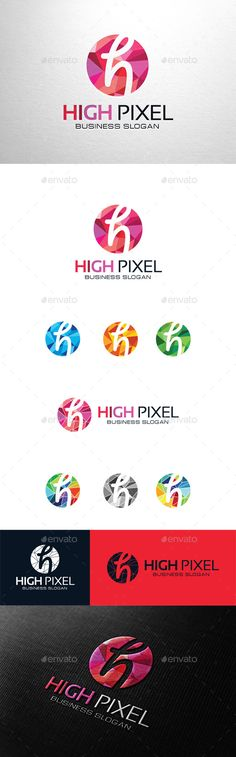 High Pixel Letter H - Logo Design Template Vector #logotype Download it here: http://graphicriver.net/item/high-pixel-letter-h-logo/11267600?s_rank=120?ref=nexion