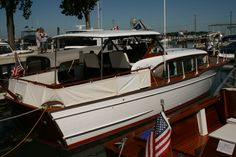 "Our 1958 35ft Chris Craft constellation ""Illusion"""