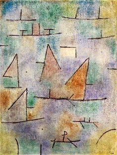"""Paul Klee, """"Ports et Voiliers,"""" 1937. It was love at first site when I saw this in Pompidou Center, summer of '88."""