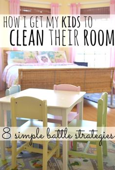 How I get my kids to clean their room: 8 simple battle strategies.  The fight to get my kids to clean my room and the 8 sanity-saving strategies that have worked for me!