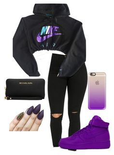 """Untitled #50"" by laelae0 ❤ liked on Polyvore featuring NIKE, Casetify and Michael Kors"