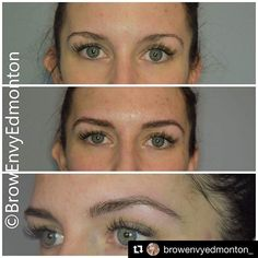 Beautiful work by #BROWBOSS Genee of @browenvyedmonton_! So natural and lovely 😍😍😍